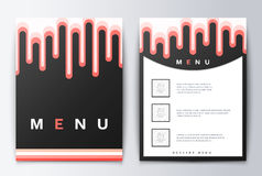 Comida del menú del diseño Fotografía de archivo libre de regalías