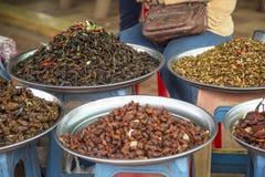 Comida del mercado en Camboya Fotografía de archivo