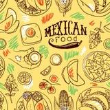 Comida del mexicano del modelo de Simpless Imágenes de archivo libres de regalías