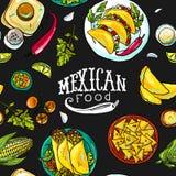 Comida del mexicano del modelo de Simpless Fotografía de archivo