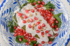 Comida del mexicano del nogada del en de los chiles Imagen de archivo