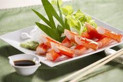 Comida del palillo del cangrejo Imagen de archivo