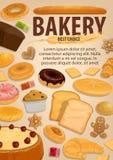 Comida del pan y de los pasteles, panadería, postres libre illustration