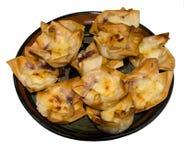 Comida del partido - paquetes de los pasteles de Filo del tocino y del queso Foto de archivo libre de regalías