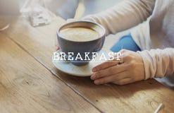 Comida del principio del comienzo del desayuno que hace el concepto del día Imagen de archivo libre de regalías