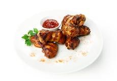Comida del restaurante aislada - carne asada a la parrilla Imagen de archivo libre de regalías