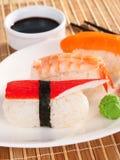 Comida del sushi del nigiri de la serie del sushi Imagen de archivo libre de regalías