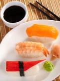 Comida del sushi del nigiri de la serie del sushi Foto de archivo libre de regalías