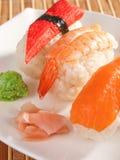 Comida del sushi del nigiri de la serie del sushi Fotos de archivo libres de regalías