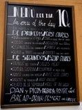 Comida del tablero del menú de España Fotos de archivo libres de regalías