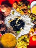 Comida del thali del Nepali imágenes de archivo libres de regalías