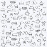 Comida del vector de la mano libre illustration