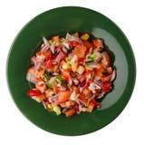Comida del vegano Ensalada de verduras Fotografía de archivo libre de regalías
