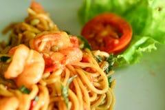 Comida deliciosa de los espaguetis Fotos de archivo libres de regalías