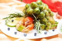 Comida deliciosa del aperitivo fijada en restaurante Foto de archivo libre de regalías