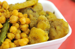 Comida determinada del vegetariano indio sano Fotografía de archivo