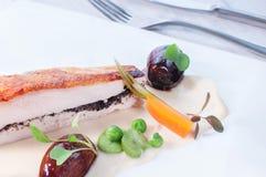 Comida elegante - chcen Brest Imagenes de archivo