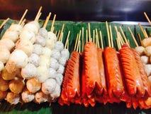 Comida en paradas Imagen de archivo libre de regalías