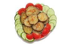 Comida en un plato Imagen de archivo