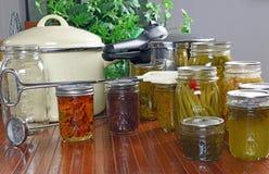 Comida enlatada casera Foto de archivo libre de regalías