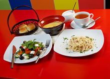 Comida europea style.lunch Fotos de archivo libres de regalías