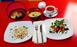 Comida europea style.lunch Imagen de archivo