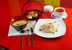 Comida europea style.lunch Foto de archivo libre de regalías