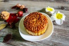 Comida famosa del chino--wu ren la torta de la luna Fotografía de archivo libre de regalías