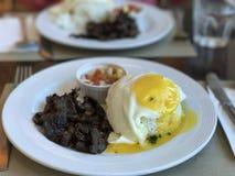 Comida filipina del desayuno Imagen de archivo