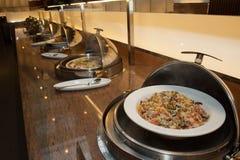 comida fría abierta del arroz frito Foto de archivo