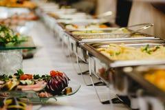 Comida fría de la boda de la comida del abastecimiento Fotografía de archivo