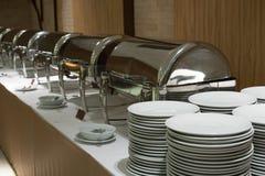 Comida fría de la comida en restaurante abastecimiento en el hotel para el banquete de boda b Fotografía de archivo libre de regalías