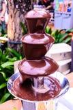 Comida fría de la 'fondue' de chocolate Imagen de archivo libre de regalías