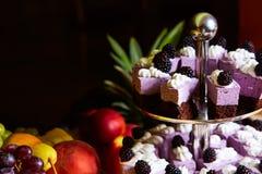 Comida fría de la torta para una fiesta de cumpleaños Fotos de archivo libres de regalías