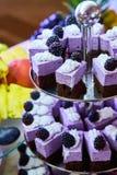 Comida fría de la torta para una fiesta de cumpleaños Foto de archivo libre de regalías