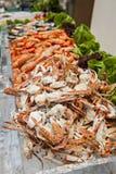 Comida fría de los mariscos Foto de archivo libre de regalías
