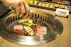 Comida fría de Yakiniku esa barbacoa del estilo japonés Imagen de archivo libre de regalías
