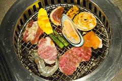 Comida fría de Yakiniku esa barbacoa del estilo japonés Imagen de archivo