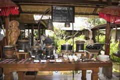 Comida fría del desayuno en el centro turístico, Bali Fotografía de archivo