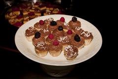 Comida fría del postre de la magdalena Imagen de archivo