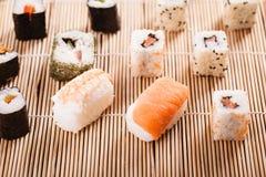 Comida fría del sushi Foto de archivo libre de regalías