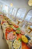 Comida fría lujosa del desayuno Imagen de archivo