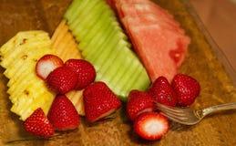 Comida fría sana de la fruta del partido Fotos de archivo libres de regalías