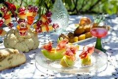 Comida fría del jardín Imagen de archivo libre de regalías
