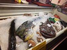 Comida Francia del mercado de pescados fotos de archivo