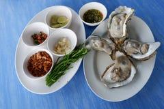 Comida fresca de las ostras Fotografía de archivo libre de regalías