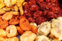 Comida frita la India del sur de la calle Fotos de archivo