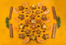 Comida geométrica Foto de archivo libre de regalías