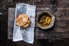 Comida india de la calle fotografía de archivo