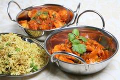 Comida india de la cena del curry Imagen de archivo